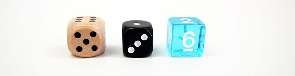 Dice Material Wooden, Resin, Transparent, Glitter