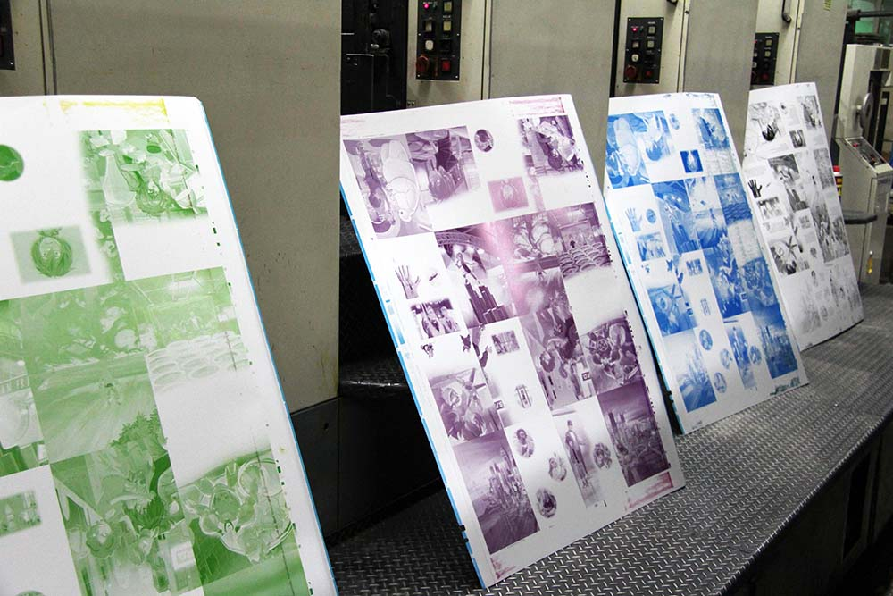 All Four Offset Printing Plates For Each CMYK Color